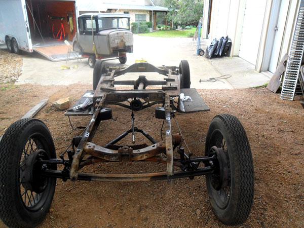 Frame and body of John Blumentritt's 1930 Ford model A coupe at Jay ...: www.alamomodela.com/restoration-john-blumentritt-2.php
